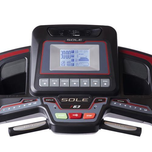 Sole Fitness F63 Treadmill Console