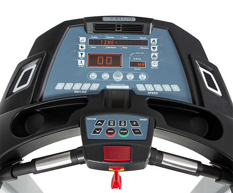 3G Cardio Treadmill Console - Close Up