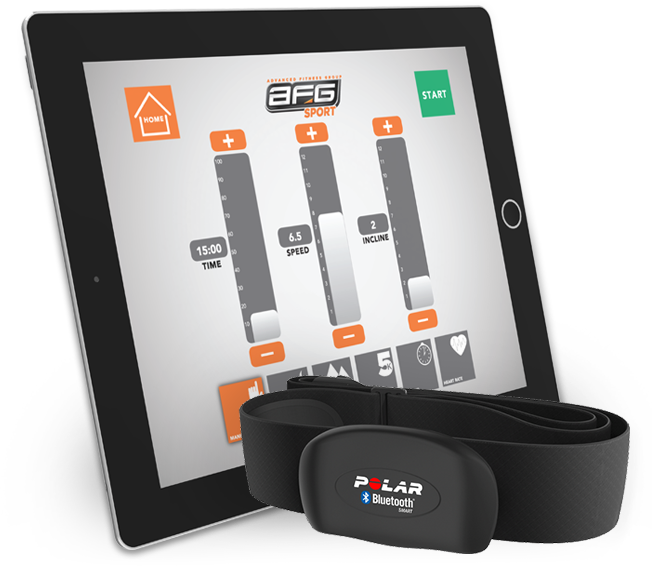 Horizon 7.4AT - Tablet or Smart Phone With Free Workout App