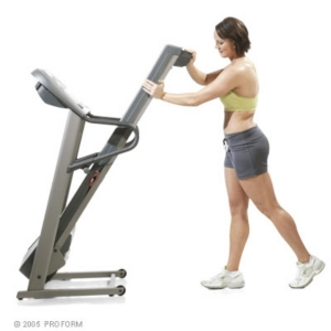 Proform 595 Pi Treadmill Folded