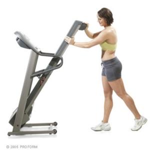 Proform 595 Pi Treadmill Folded