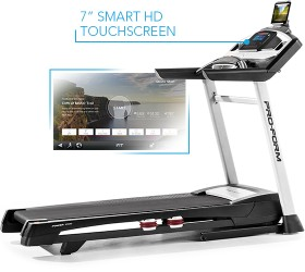 Proform Power 1295i Treadmill with iFit Coach workouts, tracking capability and touch screen display