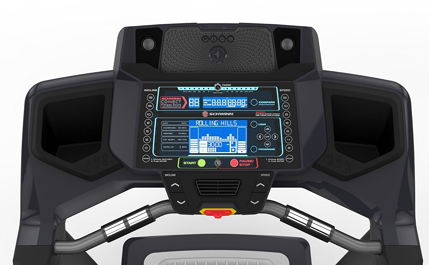 Schwinn Treadmill Console Blue Backlit