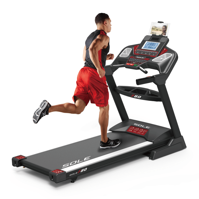 Sole F80 Folding Treadmill Console With Workout Programs and Quick Select Buttons
