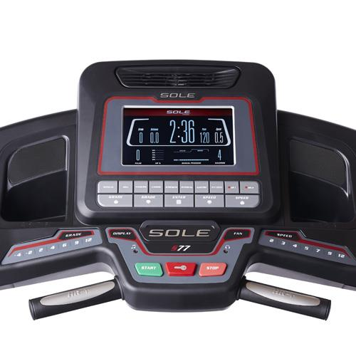 Sole S77 Treadmill Console - Easy Touch Buttons and Large LCD Display