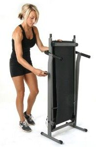 Stamina InMotion Manual Treadmill Folded Up Post Workout