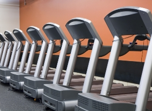 Treadmills in Gym